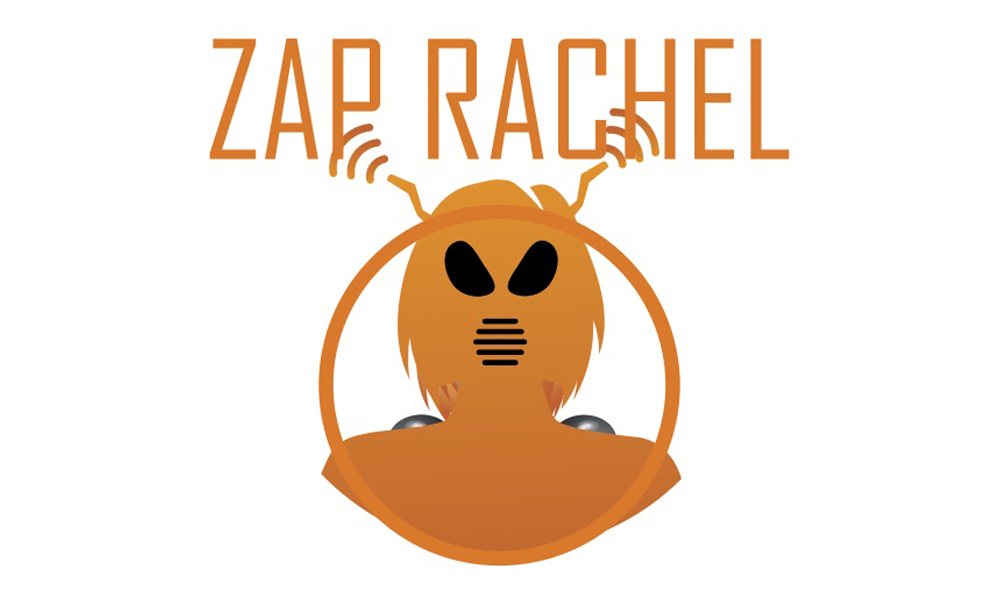The FTC Robocall challenge logo features robocall bot Rachel in crosshairs.