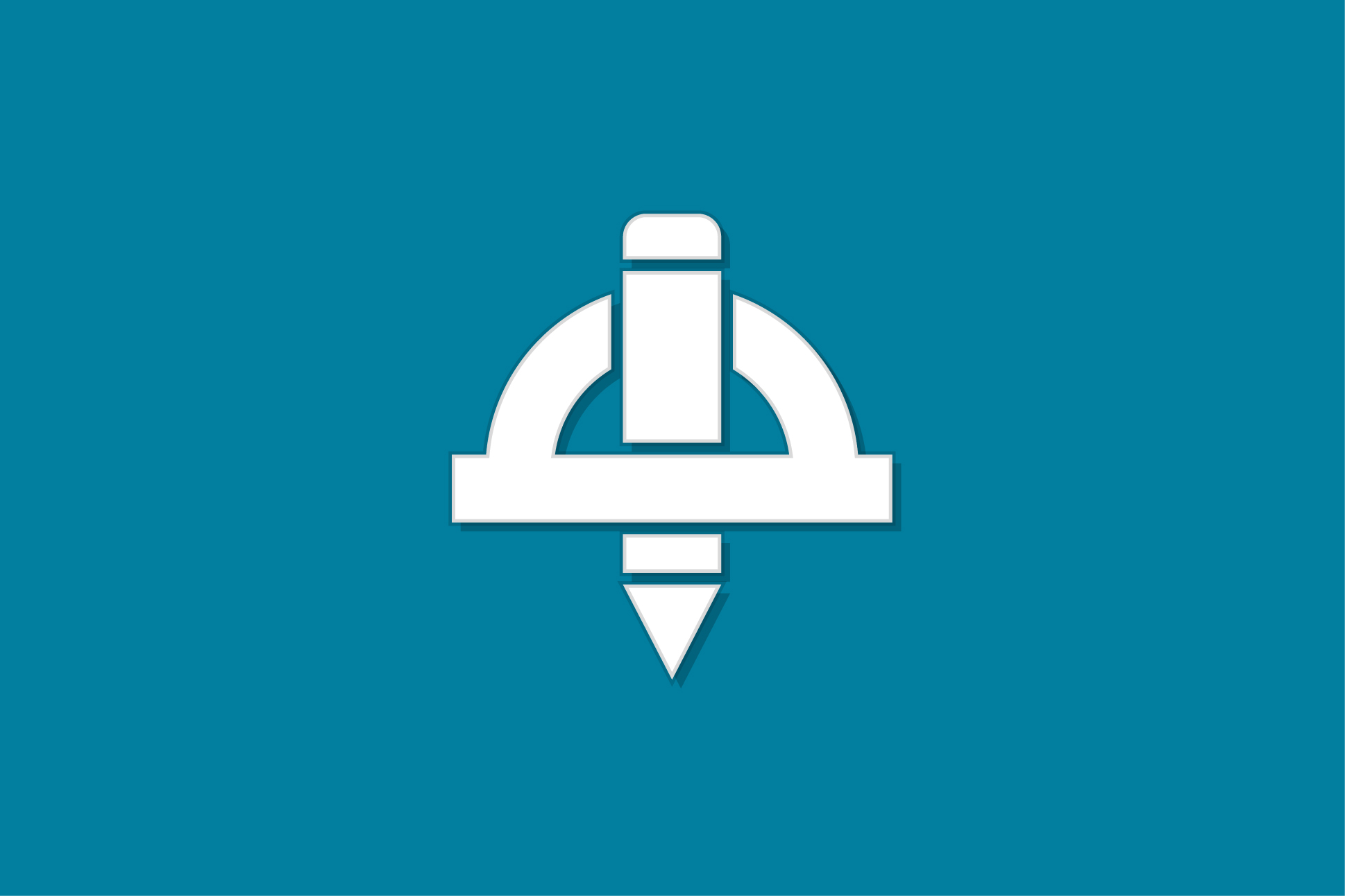 develop pencil and ruler icon